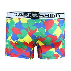 Men's Boxer Briefs-Poker Icons, back メンズファッション アンダーウェア ボクサーパンツ #darkshiny #mensfashion #boxerbrief #underwear