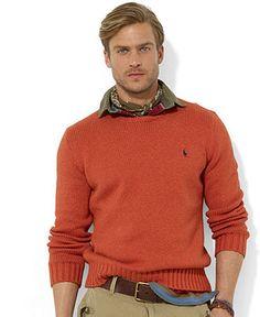 Polo Ralph Lauren Sweater, Crew Neck Cotton Pullover - Sweaters - Men - Macy's