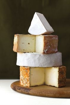 Meet our summer centerfold cheese: Fromage a Trois. Three sibling New York sheep's milk cheeses - each cut from the same curd, but aged in different ways