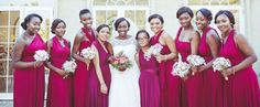 25 perfect finishing touches for your dream winter wedding - red bridesmaid dresses