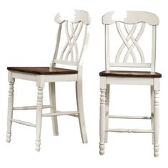 "Countryside 24"" Counter Stools - Antique White (set Of 2)"