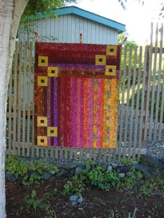 Batik Modern Quilt by FourCraftSisters on Etsy, $165.00