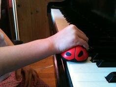 Ladybug for good hand shape.