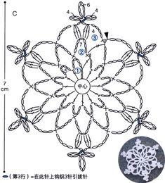 Crochet Snowflake Pattern, Crochet Lace Edging, Crochet Stars, Crochet Snowflakes, Crochet Diagram, Christmas Snowflakes, Diy Crochet, Crochet Doilies, Crochet Stitches