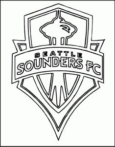 new style aab2f 520a3 seattle sounders fc mls logo coloring picture Sports Coloring Pages,  Coloring Pages For Kids,