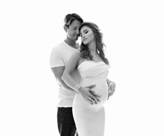 Couple maternity portrait, couples photography, pregnancy photography, high-key backlight maternity photography by Lola Melani, NYC