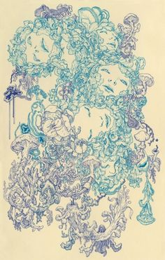 Nervosa by James Jean. Love most of his illustrations.. Some of them are a little bit too creepy though.