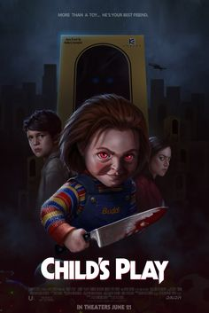 A few weeks back we asked you to create fan art for Orion Pictures re-imagining of Child's Play as part of our fan art challenge, with the winner taking ho Horror Movie Posters, New Movie Posters, Horror Icons, Horror Movies, Scary Movie Characters, Scary Movies, New Movies, Michael Myers, Freddy Krueger