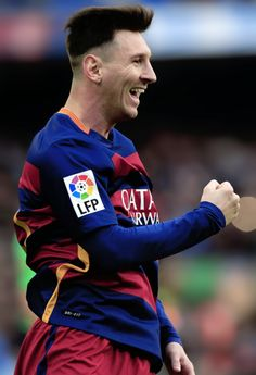 Lionel Messi celebrates a goal during the match FC Barcelona vs RC Deportivo La Coruna at the Camp Nou stadium in Barcelona on December Fc Barcelona, Lionel Messi Barcelona, Barcelona Futbol Club, Old Boys, Cristiano Ronaldo Celebration, Messi 2015, Premier League, Madrid, Football Is Life