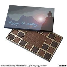 mountain Happy Birthday box of chocolates