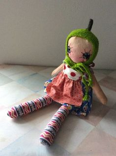 Little Patchwork Girl ~ Handmade Cloth Doll