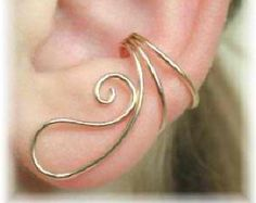 Ear Cuff Ear Saver with Dangle 14K Gold Filled by ChapmanJewelry