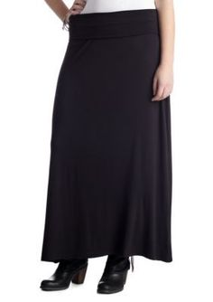 Living Doll  Plus Size Solid Skirt