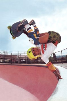 Classic photo of Steve Caballero that was in Action Now Magazine in the early 1980s.