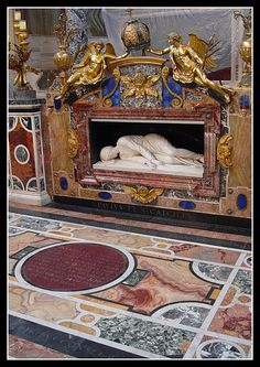 St. Cecilias Tomb, (Patron Saint of Music) Rome, Italy (one of my Beloved Patrons)