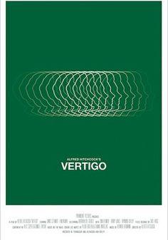 Vertigo - Designed by Greg Polvi.  Alternative Movie Posters from www.shortlist.com