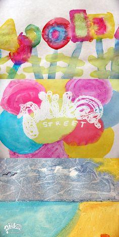 3 watercolor effects. An Original #kids #craft by www.piikeastreet.com #piikeastreet