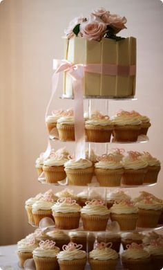 @Erin McLaughlin this cake and cupcakes wedding cake made me think of you!
