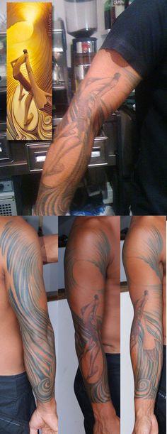 Tattoos of Jay Alders' Surf Artwork | Jays Blog | Jay Alders:Surf Art,Fine Artist,Photographer,Designer,Writer  Surf Artist