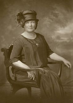 Studio portrait of Lydia Y. Hayes wearing a feathered hat. Hayes was a teacher at Perkins Institution from 1881-1889, ca. 1910. Visit the Perkins Archives Flicker page: http://www.flickr.com/photos/perkinsarchive/collections/