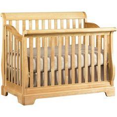 b65c3ffcffc Young America All Seasons Built to Grow Sleigh Convertible Crib with Slats  - Becker Furniture World - Crib Twin Cities