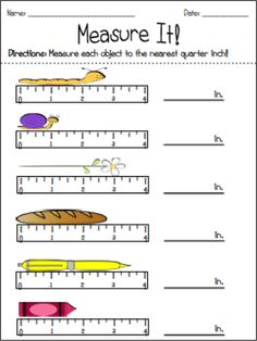 This freebie contains worksheets for helping students measure to the nearest inch, half inch, and quarter inch! Answer keys included :)