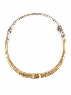 Gold Foil Hasli Necklace