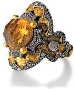 Sevan Bicakci. 22k gold and diamond ring.