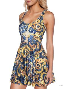The Pandorica Opens Scoop Skater Dress (WW ONLY $95AUD) by Black Milk Clothing