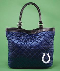 NFL Colts Quilted Tote; $11.35