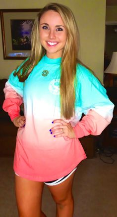 New Southern Shirt Co. Ombre Spirit Jersey and monogram necklace!