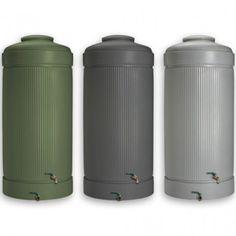 Regnvandstønde grå grøn antracit 2000 liter