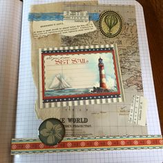 Art Journal Page in Altered Comp Book