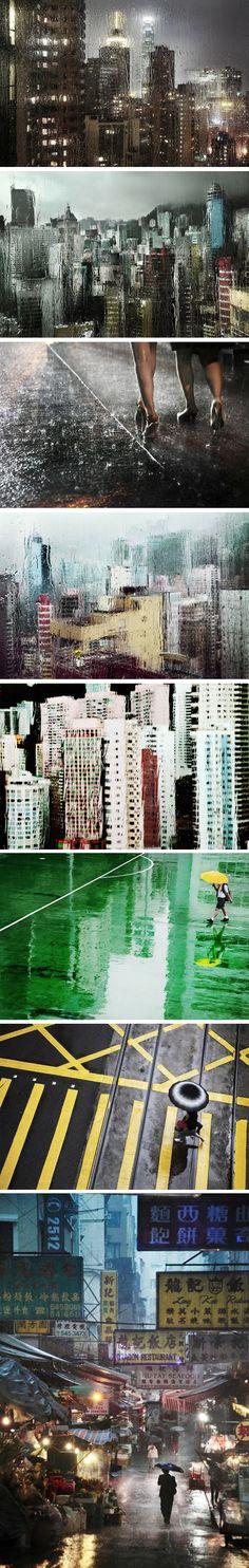 Hong-Kong in the rain par Christophe Jacrot