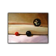 Marbles original 6x8 inch painting by vankale on Etsy, $40.00