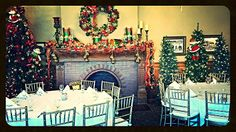 Holiday Cheer within the astonishing Ballroom at Tippecanoe Place Restaurant in downtown South Bend, IN