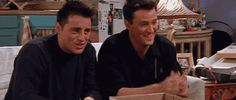 When they gave affirmation in unison, like so: | 25 Moments When Joey And Chandler Won At Friendship