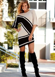 I think this asymmetrical dress is cute.