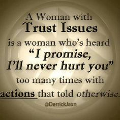 A woman with trust issues