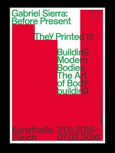 Gabriel Sierra: Before Present,   Kunsthalle Zürich, 21.11.2015-07.02.2016; Graphic Design:  Dan Solbach  (via void ())