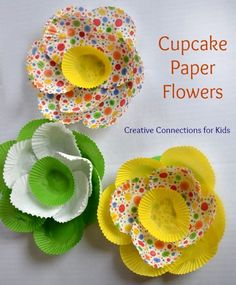 nice Cupcake Paper Flowers - Creative Connections for Kids Flower Bulletin Boards, Easter Bulletin Boards, School Bulletin Boards, Bulletin Board Borders, Bulletin Boards For Spring, Bulletin Board Ideas For Church, Butterfly Bulletin Board, Creative Bulletin Boards, Reading Bulletin Boards