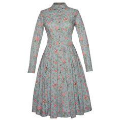 Croisette Dress fleur bleu - Lena Hoschek Online Shop