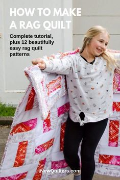 A Beginner's Guide to Rag Quilting book Rag Quilt Patterns, Beginner Quilt Patterns, Quilting For Beginners, Sewing Projects For Beginners, Quilting Tips, Quilt Tutorials, Pillow Patterns, Lady L, Quilt Labels