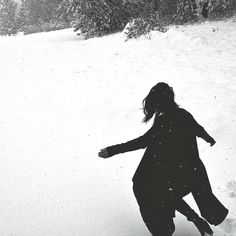 it's.. soft. yeah. she runs her fingers through the snow and draws them to her chest. and cold, she murmurs.