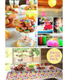 A Colorful Cheap First Birthday Bash