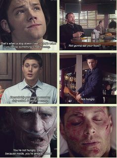[GIFSET] #Demon!Dean OMIGOD NO DONT THINK OF demon!Dean. THINK OF BAGELS. BAGELS BAGELS BAGELS. BAGELPOCALYPSE FOREVER.  not a bagel but oh well)
