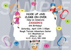 Rock Climbing Birthday Invitation
