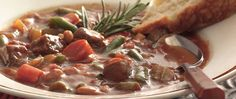Give savory beef stew a Tuscan twist with Italian seasoning, cannellini beans and crushed tomatoes.
