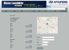 View our Hyundai hours and directions at http://www.denelambkinhyundai.com/HoursAndDirections