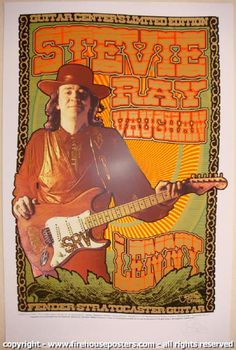 """Stevie Ray Vaughan """"Lenny"""" - silkscreen poster (click image for more detail) Artist: Chuck Sperry of Firehouse Venue: n/a Location: n/a Concert Date: 2008 Edition: signed and marked a/p in pencil Music Pics, Music Photo, Art Music, Music Artists, Rock Posters, Band Posters, Concert Posters, Music Posters, Gig Poster"""